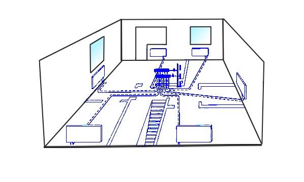 Коллекторная (лучевая) схема отопления